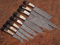 Custom made damascus Blade Kitchen knife 08 Pc's set, 1009-8
