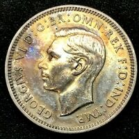 Australia, 1942(s) One Shilling, George VI (Silver) - Choice Uncirculated KM#39