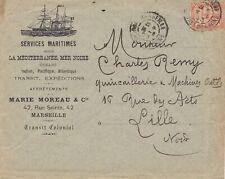 Frankreich: 1903: Brief Marseille-Service Maritimes nach Lille