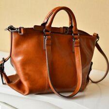 Women Satchel Handbag Oiled Leather Shoulder Tote Messenger Crossbody Bag