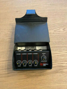 4 Channel Compact Battery Powered Mini Microphone Mixer PA Mic DJ MC