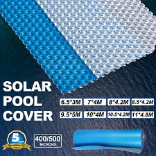 8 Sizes Solar Swimming Pool Cover 400 500 Micron Outdoor Heater Bubble Blanket