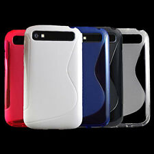 For Blackberry Classic Q20 New S Line Skidproof Rubber Gel skin case cover