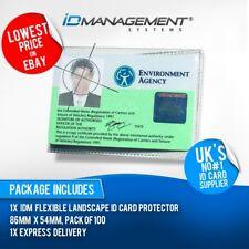 100 protectores de tarjeta de identificación Flexible Transparente * 86mm X 54mm * artículo popular