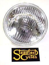 "12v 6"" halogen headlight with H4 bulb fits British 5 3/4"" shell TR6C BSA Triumph"