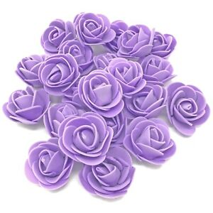 Lilac 30mm Foam Rose Flower Roses Craft Decorative Craft Flowers Scrapbooking