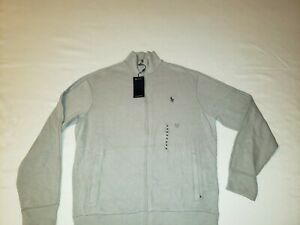 NWT Polo Ralph Lauren Performance Grey  Sweatshirt Jacket Full Zip NEW Logo M