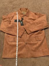 Reportage Suede Sport Jacket made in Italy XL NWT