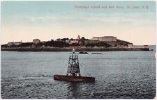 Partridge Island and Bell Buoy St John, NB Canada Unused Postcard Valentine