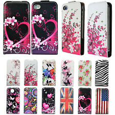 Premium Leather Vertical Card Slot Cover Case For Apple iPhone Samsung Phones