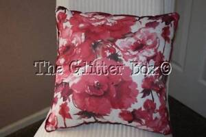 Shabby Cottage Chic Decorative Toss Pillow Pink Watercolor Roses Flowers