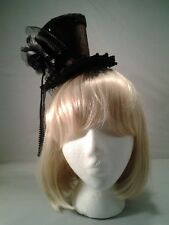 Brown Mini Top Hat w/ Headband Steampunk Victorian Burlesque Cosplay Adult Size