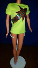 Vtg 1985 Barbie Rockers #2427 Fluorescent Neon Diva Top Only Superstar Era Shirt