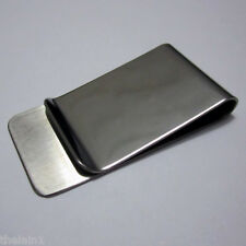 Money Clip Note Card Holder Stainless Steel Mens Wallet Ladies Purse Bag