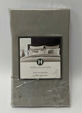 Hotel Collection 100% Linen Euro Pillow Sham 28.5 x 28.5 Inch Gray