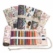 Handmade Canvas Pencil Case Large Capacity Bag Men And Girls Color Lead Sketches