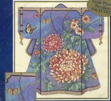 VINTAGE Bucilla Oriental Kimono Barbara Baatz Counted Cross Stitch 42451 SEALED