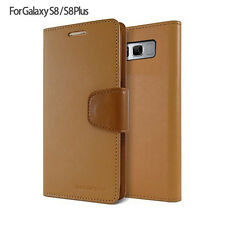 Genuine Goospery Slim Leather Wallet Card Case Flip Cover For Galaxy S9 8 Note 8