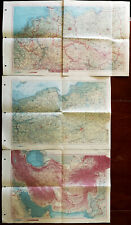 More details for atlas swiata vintage maps of poland, iran / afganistan and central europe