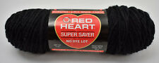Red Heart Super Saver Worsted 4 Ply Acrylic Yarn - 3 oz Skein - Black #312