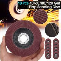 """10X 125mm 5"""" FLAP GRINDING SANDING DISCS  40 60 80 120 GRIT ANGLE WHEEL ZIRCON"""