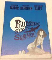 Suddenly, Last Summer Elizabeth Taylor Hepburn Vintage 1959 Danish Movie Program