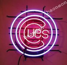 Rare MLB CHICAGO CUBS OLD STYLE Baseball NEON SIGN BEER BAR LIGHT Free Shipping