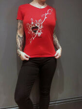 Red Ladies 81 Vneck T-shirt - Hells Angels Support Gear - Big Red Machine London