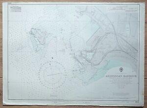 SCOTLAND ARDROSSAN HARBOUR VINTAGE ADMIRALTY CHART MAP