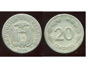 EQUATEUR  20 centavos  1946  ( bis )