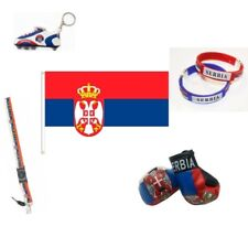 WORLD CUP 2018 SERBIA SOCCER FLAGS, SCARVES & ACCESSORIES CHOOSE FROM 10 + ITEMS