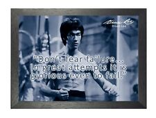 Bruce Lee 66 Hong Kong American Actor Film Director Martial Arts Quote Poster
