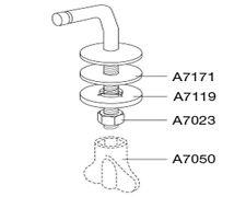 Pressalit Fest-Scharniersatz für WC Sitz Pressalit Magnum Typ B 33