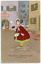 ARTIST SIGNED.  FRITZ BAUMGARTEN. CHARMANTE PETITE FILLE. CHARMING LITTLE GIRL.