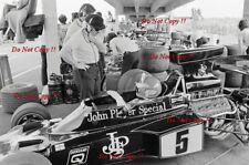 Ronnie Peterson JPS Lotus 72E USA Grand Prix 1975 Photograph 2