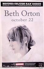 Beth Orton 2014 San Diego Concert Tour Poster - Folk Rock Music, Folktronica