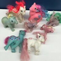 VTG LOT 8 1980s G1 My Little Pony Ponies Toy Figures Baby Unicorn Used 80s
