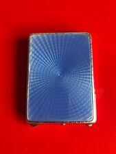 More details for art deco silver & guilloche enamel matchbook holder. birmingham 1929