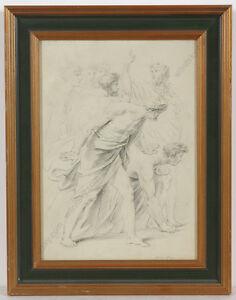 """Heirich Friedrich Fueger (1751-1818)-Attrib. """"Study for Tuccia"""", Drawing"""