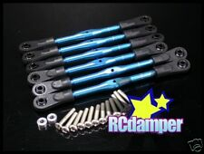 ALUMINUM TIE-ROD RODS TURNBUCKLE SET BLUE 6PCS TRAXXAS JATO 2.5 3.3 ALLOY