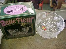 """BS1 Belle Fleur Real Lead Crystal bowl #2010 6"""" dia x 3.5"""" H Anna Hutte dish"""