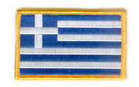 GREECE GREEK FLAG PATCHES COUNTRY PATCH BADGE IRON ON NEW EMBROIDERED