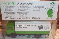 Siemens Schalter Steckdosen Werbemodell LKW WIKING 1:87    å