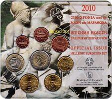 Euro GRECIA 2010 FOLDER UFF 8 monete FDC ( 2 Euro Com )