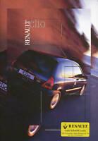 Renault Clio Prospekt 2000 2/00 brochure prospectus Autoprospekt broschyr Auto