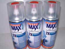 3 cans of 2K SprayMax Gloss Lacquer Clear Coat Spray 400ml art.no. 2680061