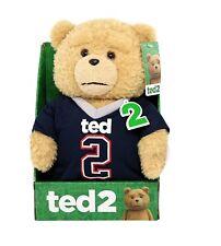 "Ted 2 Movie Explicit Language Talking 11"" Plush Teddy Bear Doll Patriots T Shirt"