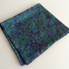 Green leaves Liberty of London silk pocket square
