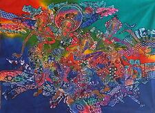 ASTRATTO BALLERINA Dipinto Batik art.