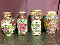 Chinese Vases, Gorgeous Mini Chinese Vases made of Porcelain, Set Of 4